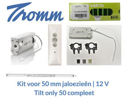 Kit voor 50 mm jaloezieën | 12 V | Tilt only 50 compleet