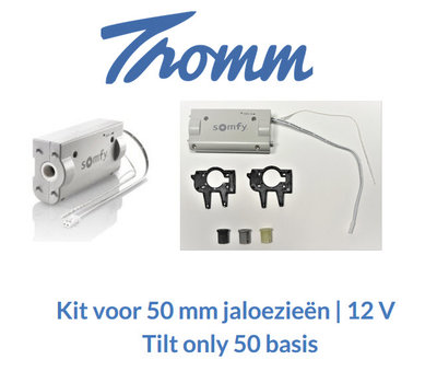 Kit voor 50 mm jaloezieën | 12 V | Tilt only 50 basis