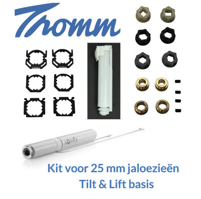 Kit voor 25 mm jaloezieën | 12 V | Tilt en Lift 25 RTS basis