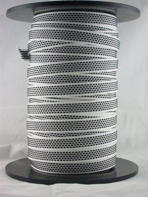 Optrekband / lint 14mm grijs / wit
