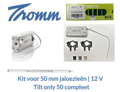 Kit voor 50 mm jaloezieën   12 V   Tilt only 50 compleet