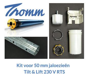 Kit voor 50 mm jaloezieën   230 V   tilt & lift RTS