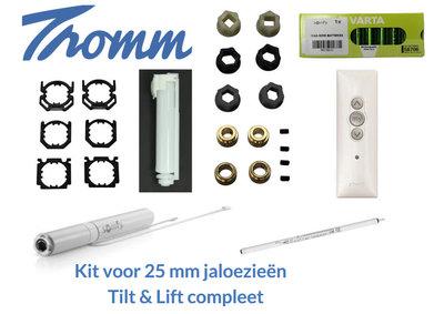Kit voor 25 mm jaloezieën | 12 V | Tilt en Lift 25 RTS compleet