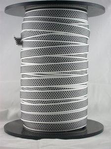 Rol 50m1 Optrekband 14mm grijs/wit